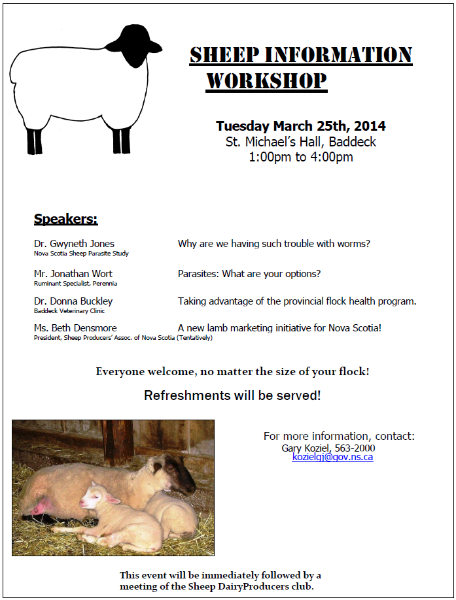 CapeBreton Sheep Workshop