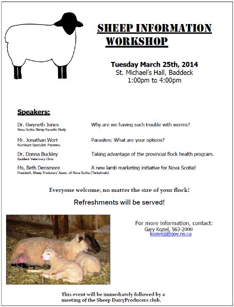 CapeBreton Sheep Workshop