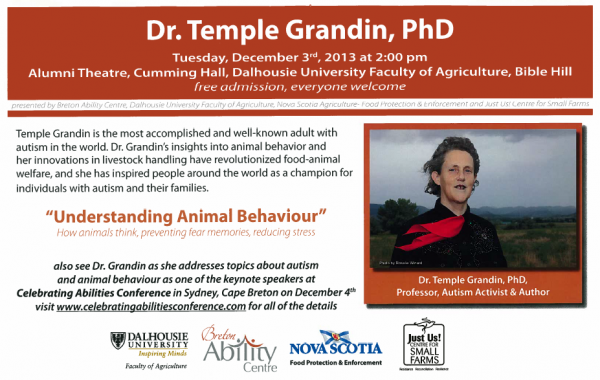 dr temple grandin understanding animal behaviour sheep producers association of nova scotia. Black Bedroom Furniture Sets. Home Design Ideas