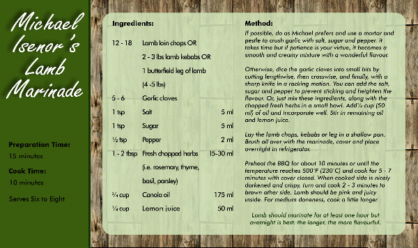 Recipe Card Marinade Side 2