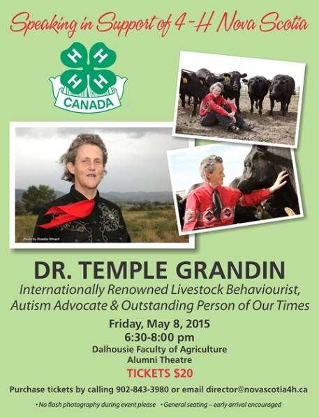 dr temple grandin in truro may 8th sheep producers association of nova scotia. Black Bedroom Furniture Sets. Home Design Ideas